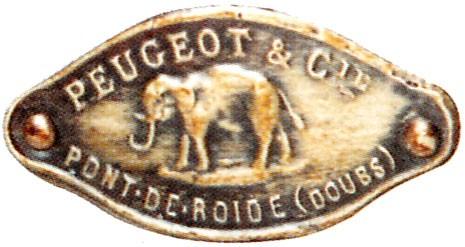 Peugeot et Cie 1894 - 1910 2 plaque