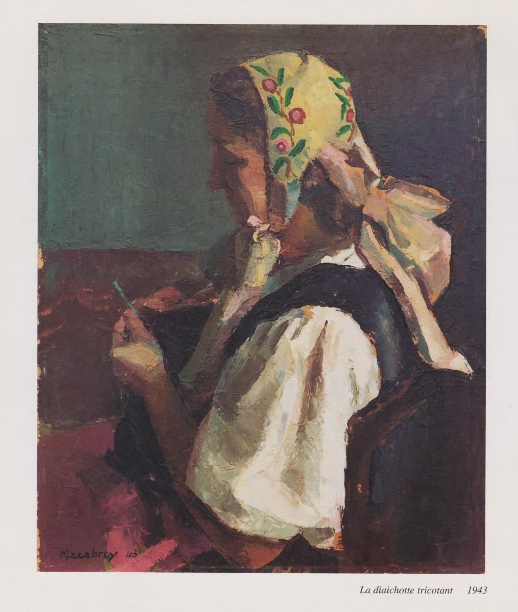 La diaichotte tricotant