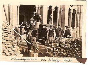 Eglise demenagement_cloches 1931_E.Rossel