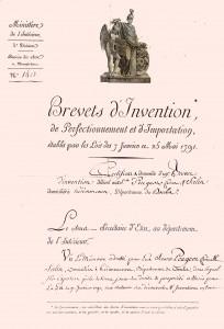 Brevet laminage Fritz Peugeot 1818 1° page